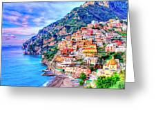 Amalfi Coast At Positano Greeting Card