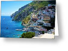 Amalfi Coast, Positano, Italy Greeting Card