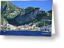 Amalfi Cove Greeting Card