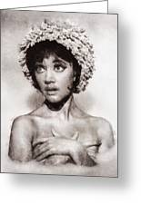 Amanda Barrie, Carry On Actress Greeting Card