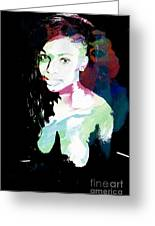 Amani African American Nude Fine Art Painting Print 4966.03 Greeting Card