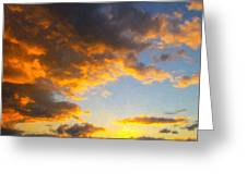 Amarillo Golden Sunset Greeting Card by Jeff Steed
