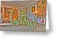 Amaryllis Exhibition In Beloeil Castle, Belgium Greeting Card