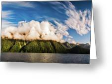 Amazing Cloud Formation At Lake Manapouri In New Zealand Greeting Card