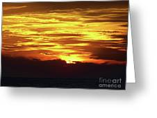 Amazing Fire In The Sky Greeting Card