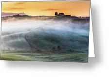 Amazing Landscape Of Tuscany Greeting Card