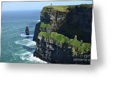Amazing Look At The Sea Cliff's Of Moher In Ireland Greeting Card
