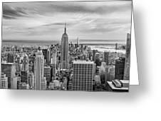 Amazing Manhattan Bw Greeting Card