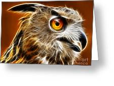 Amazing Owl Portrait Greeting Card