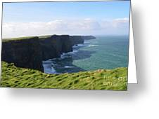 Amazing Scenic Views Of The Cliff's Of Moher Greeting Card