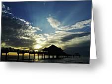 Amazing Sky Pier 60 Greeting Card