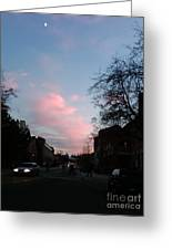 Amazing Sky With The Moon Greeting Card