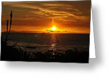 Amazing Sunset Greeting Card