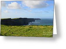 Amazing Views Of The Cliff's Of Moher In Ireland Greeting Card
