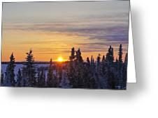 Amazing Winter Sunrise Greeting Card
