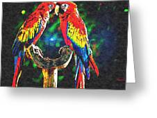Amazon Parrotts Greeting Card