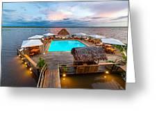 Amazon Swimming Pool Greeting Card