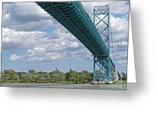 Ambassador Bridge - Windsor Approach Greeting Card
