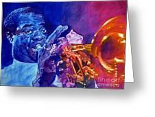 Ambassador Of Jazz - Louis Armstrong Greeting Card by David Lloyd Glover