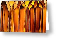 Amber Abstraction Greeting Card