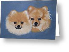 Amber And Sandy Greeting Card
