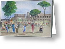 Amber At The Roman Coliseum Greeting Card