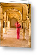 Amber Fort Temple Greeting Card