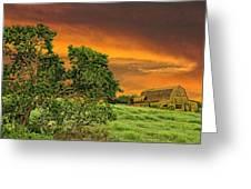 Amber Skies Greeting Card