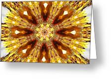 Amber Sun. Digital Art 3 Greeting Card