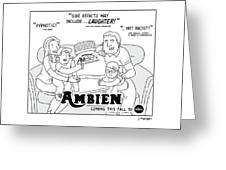 Ambien Coming This Fall To Abc Greeting Card