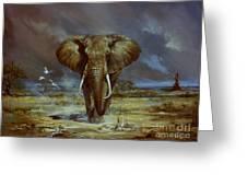 Amboseli Bull Elephant Greeting Card