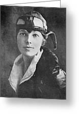 Amelia Earhart, Us Aviation Pioneer Greeting Card by Science, Industry & Business Librarynew York Public Library