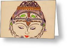Amerat Goddess Of Flora Greeting Card