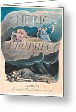 America. A Prophecy. Plate 2 Greeting Card