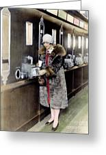 America: Automat, C1925 Greeting Card