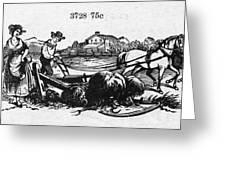 America: Farming, C1870 Greeting Card