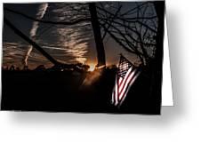 America  Greeting Card by Kim Loftis