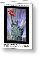 America On Alert II Greeting Card