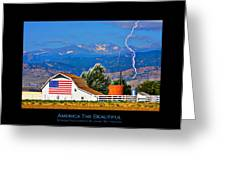 America The Beautiful Poster Greeting Card
