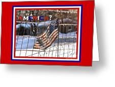 America Where Are We Greeting Card