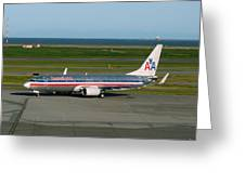 American Airlines 737-800 Greeting Card