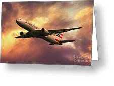 American Airlines 767 N345an Greeting Card