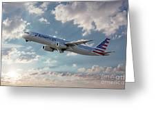 American Airlines A321-231 N917uy Greeting Card