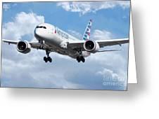 American Airlines Boeing 787 Dreamliner Greeting Card