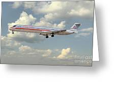 American Airlines Md-80 Greeting Card