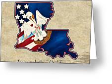 American And Louisiana Pride Greeting Card