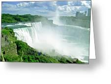 American And Niagra Falls At Niagra Greeting Card