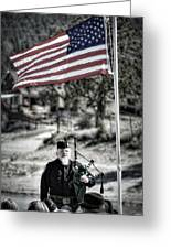American Bagpiper Greeting Card