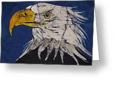 American Bald Eagle Fine Art Batik Greeting Card