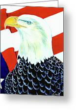 American Bald Eagle Painting #256 Greeting Card